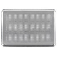 Baker's Mark 18 inch x 26 inch Perforated Full Size 19 Gauge Wire in Rim Aluminum Bun / Sheet Pan