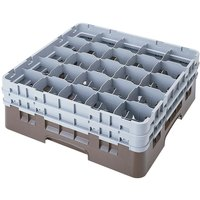 Cambro 25S638167 Camrack 6 7/8 inch High Brown 25 Compartment Glass Rack