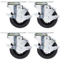 Beverage Air 00C26-012A 3 inch Plate Casters - 4/Set