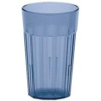 Cambro NT12401 Slate Blue Newport Customizable Plastic Tumbler 12.6 oz. - 36/Case
