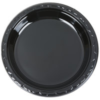 Genpak BLK09 Silhouette 9 inch Black Heavy Weight Plastic Plate - 400/Case