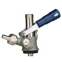 Micro Matic 7486BB S System Beer Keg Coupler with Blue Lever Handle