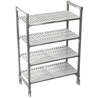 Cambro Camshelving Premium CPMU244875V4480 Mobile Shelving Unit with Premium Locking Casters 24 inch x 48 inch x 75 inch - 4 Shelf