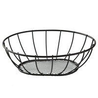 American Metalcraft SSB96 9 inch x 6 inch Straight-Sided Mesh Bottom Basket