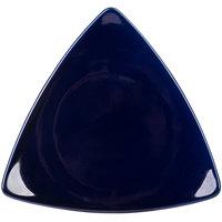 CAC TRG-23BLU Festiware Triangle Flat Dinner Plate 12 1/2 inch - Blue - 12/Case