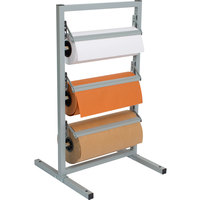Bulman T368R-15 15 inch Three Deck Tower Paper Rack with Straight Edge Blade