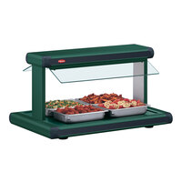 Hatco GR2BW-54 54 inch Glo-Ray Hunter Green Designer Buffet Warmer with Hunter Green Insets and Infinite Controls - 2290W
