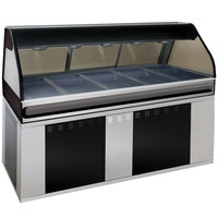 Alto-Shaam EU2SYS-72/P BK Black Cook / Hold / Display Case with Curved Glass and Base - Self Service, 72 inch