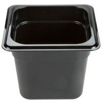Carlisle 3068503 StorPlus 1/6 Size Black Food Pan - 6 inch Deep