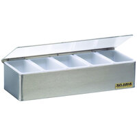San Jamar B4155L Garnish Tray - 5 Pint (2.5 Qt.) Capacity