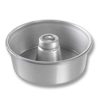 Chicago Metallic 46500 7 1/2 inch Aluminum Angel Food Cake Pan - 2 3/4 inch Deep