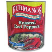 Furmano's Roasted Red Peppers 6 - #10 Cans / Case