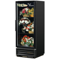 True GDM-12FC-LD Black Glass Door Floral Case - 12 Cu. Ft.