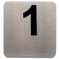 1 to 50 Stainless Steel Table Number