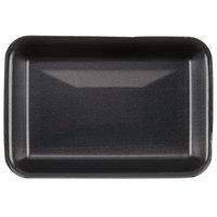 Genpak 1002 (#2) Foam Meat Tray Black 8 1/4 inch x 5 3/4 inch x 1 inch - 500/Case