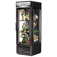 True GEM-23FC-LD Black Glass End Floral Case - 23 Cu. Ft.