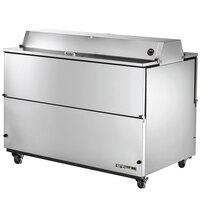 True TMC-58-S-DS-SS 58 inch Two Sided Milk Cooler with Stainless Steel Interior and Exterior