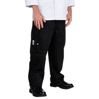 Chef Revival P024BK Size L Black Chef Cargo Pants - Poly-Cotton