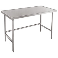 Advance Tabco TVSS-246 24 inch x 72 inch 14 Gauge Open Base Stainless Steel Work Table