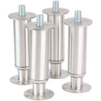 Manitowoc K-00144 12 inch - 13 1/4 inch Adjustable Stainless Steel Flanged Feet - 4/Set
