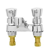 T&S B-0831 Deck Mounted Self Closing Faucet - 4 inch Centers