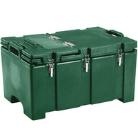 Cambro 100MPCHL519 Camcarrier Green Top loading Pan Carrier with Hinged Lid for 12 inch x 20 inch Food Pans