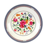 Rose 14 3/8 inch Round Melamine Plate - 12/Pack