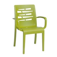 Grosfillex US118152 Fern Green Essenza Stacking Armchair