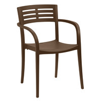 Grosfillex US633275 Cafe Vogue Stacking Armchair