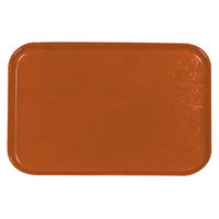 Carlisle 2618FGQ018 Customizable Orange 18 inch x 26 inch Glasteel Display / Bakery Fiberglass Tray - 6 / Case