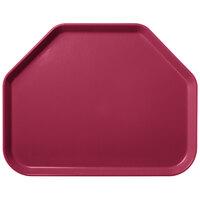 Carlisle 1713FG054 Customizable 14 inch x 18 inch Glasteel Mulberry Trapezoid Fiberglass Tray - 12/Case