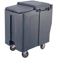 Cambro ICS175T401 Slate Blue Sliding Lid Portable Ice Bin - 175 lb. Capacity Tall Model