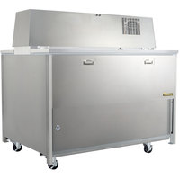 Traulsen RMC58S6 58 inch Single Side School Milk Cooler with 6 inch Casters - 115V
