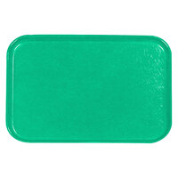 Carlisle 2618FGQ007 Customizable Tropical Green 18 inch x 26 inch Glasteel Display / Bakery Fiberglass Tray - 6/Case