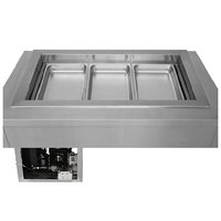Wells RCP-7300SLST Three Pan Drop In Slim Line Refrigerated Cold Food Well with Slope Top and Recessed Pan Compartments