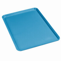 Carlisle 3753FG013 Customizable 14 9/16 inch x 20 7/8 inch (37 x 53 cm) Glasteel Euronorm Ice Blue Fiberglass Tray - 12/Case
