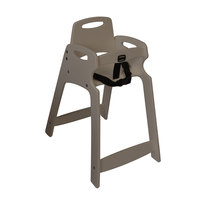 Koala Kare KB833-01 Light Gray Assembled Recycled Plastic High Chair