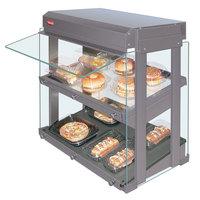 Hatco GRHW-1SGDS White Dual Slanted Shelf Heated Glass Mini-Merchandising Warmer - 1330W