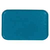 Carlisle 2115FG013 Customizable 14 3/4 inch x 20 7/8 inch (37,5 cm x 53 cm) Glasteel Metric Ice Blue Fiberglass Tray - 12/Pack