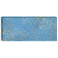 Carlisle 1219LDFG029 Customizable 12 inch x 19 inch Glasteel Starfire Blue Dietary Fiberglass Tray - 12/Case