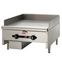 Wells HDTG-2430G Heavy Duty 24 inch Gas Countertop Griddle - 60,000 BTU
