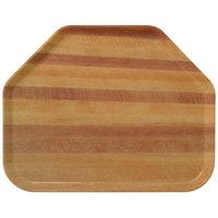 Carlisle 1713WFG094 Customizable 14 inch x 18 inch Glasteel Wood Grain Redwood Trapezoid Fiberglass Tray - 12/Case