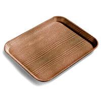 Carlisle 1216LWFG094 Customizable 12 inch x 16 inch Glasteel Wood Grain Redwood Dietary Fiberglass Tray - 12/Case