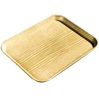 Carlisle 1220WFG065 Customizable 13 inch x 21 inch (32,5 x 53 cm) Glasteel Metric Wood Grain Light Oak Fiberglass Tray - 12/Case