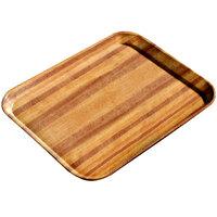Carlisle 1220WFG092 Customizable 13 inch x 21 inch (32,5 x 53 cm) Glasteel Metric Wood Grain Butcher Block Fiberglass Tray - 12/Case