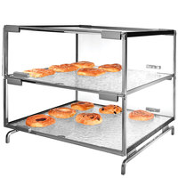 Cal-Mil PC200-39 Two Tier Platinum Pastry Display Case - 16 inch x 16 inch x 20 inch