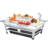 Cal-Mil IP1020-39 Large Ultimate Platinum Ice Housing System with Ice Pan, Water Contaminant Unit, and LED Lighting - 19 inch x 27 inch x 8 inch