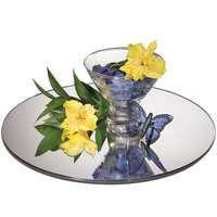 Cal-Mil GT12 12 inch Round Mirror Glass Tray