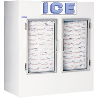 Polar Temp 650CWG Two Door Cold Wall Indoor Ice Merchandiser - 65 cu. ft.
