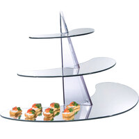 Cal-Mil MT100 3 Tier Mirror Display Riser - 32 1/4 inch x 13 1/4 inch x 19 1/2 inch